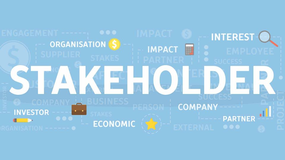 stakeholder illustration with key words